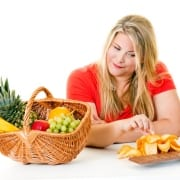 Woman Having Junk Food